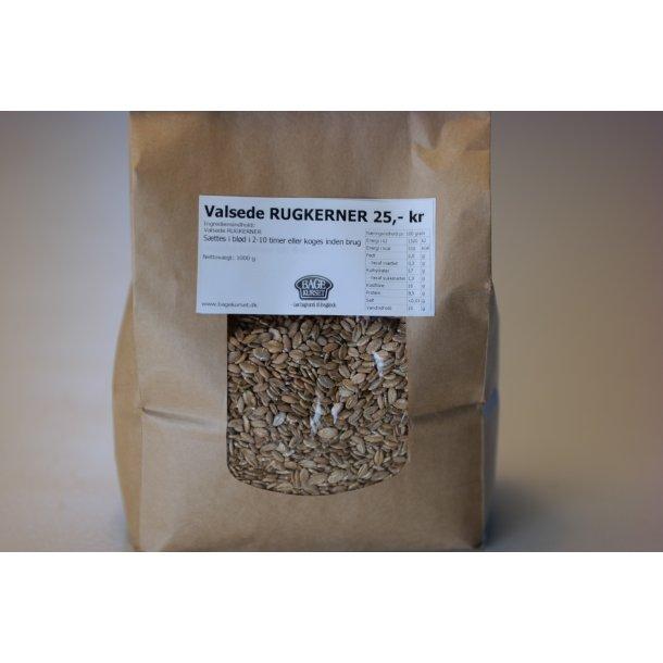 Rugflagervalsede Rugkerner 1 Kg Bageprodukter Bagekurset I Ribe